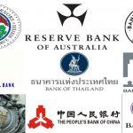 ธนาคารกลางและสกุลเงินหลักตลาด Forex