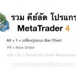 รวมคีย์ลัดโปรแกรม MetaTrader 4
